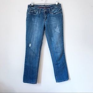 Refuge Straight Leg Distressed Jeans